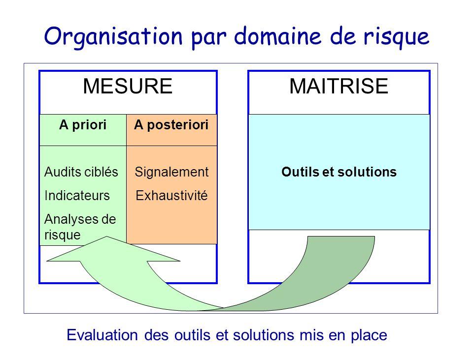 Organisation par domaine de risque