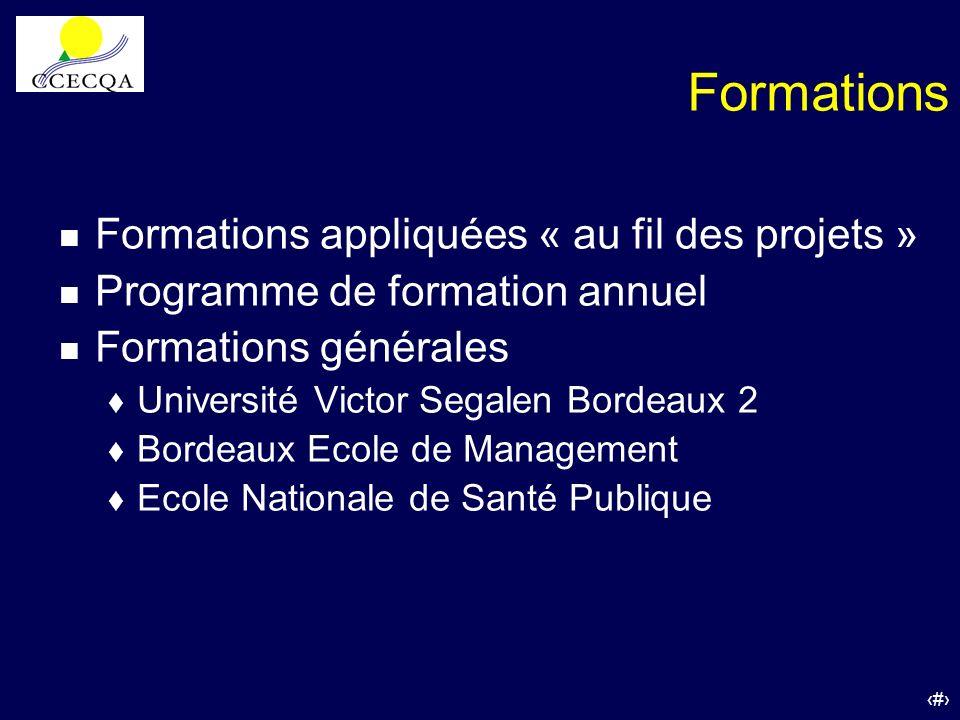 Formations Formations appliquées « au fil des projets »