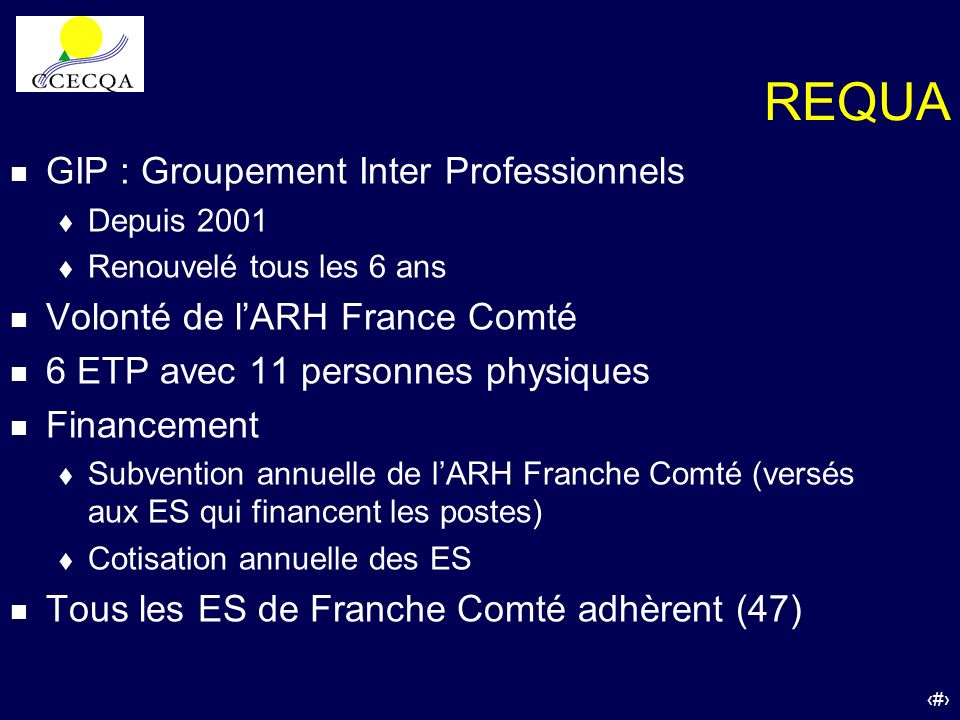 REQUA GIP : Groupement Inter Professionnels