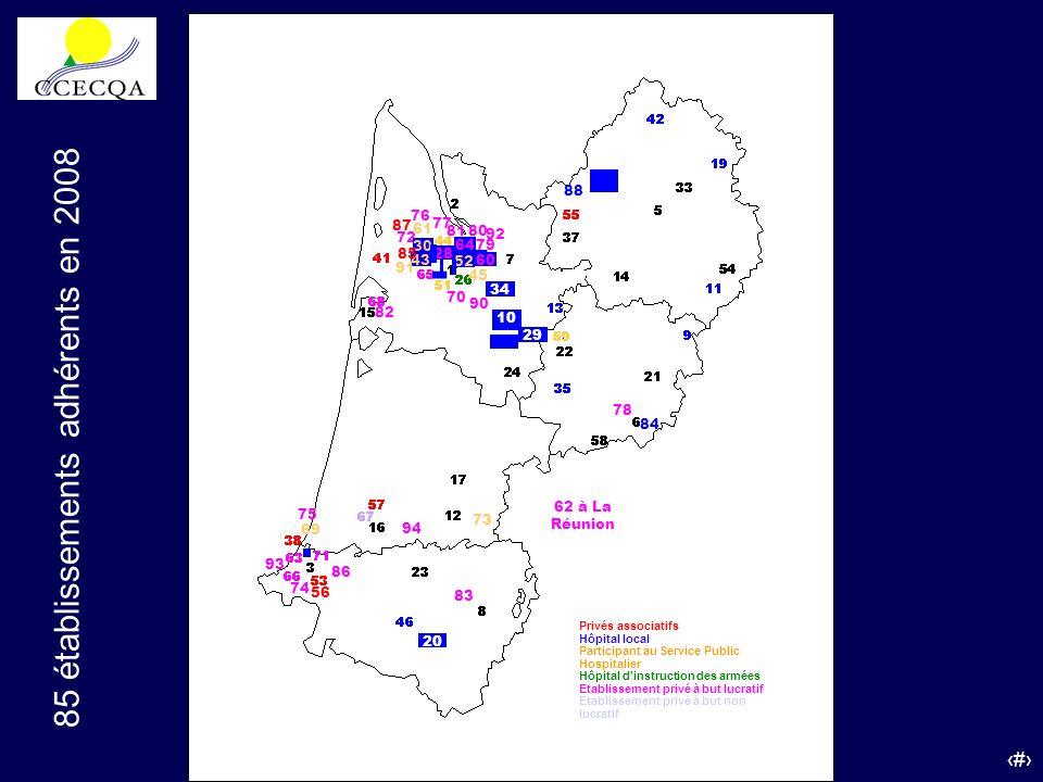 85 établissements adhérents en 2008