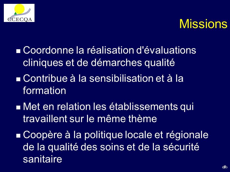 Missions Coordonne la réalisation d évaluations cliniques et de démarches qualité. Contribue à la sensibilisation et à la formation.