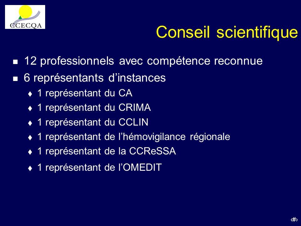 Conseil scientifique 12 professionnels avec compétence reconnue