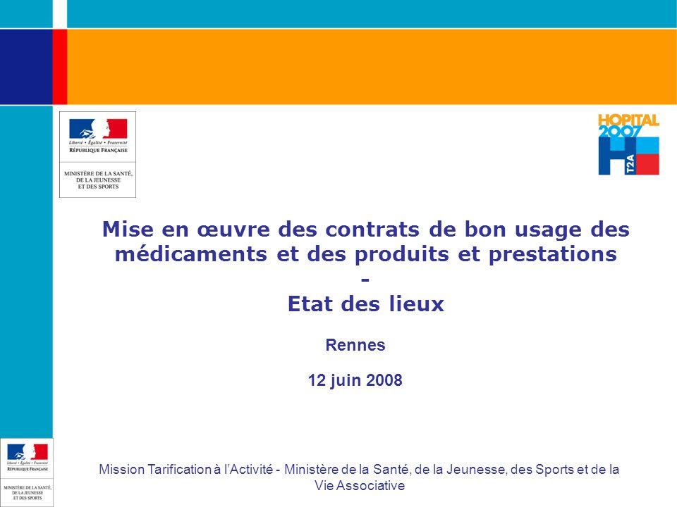 Mise en œuvre des contrats de bon usage des médicaments et des produits et prestations - Etat des lieux