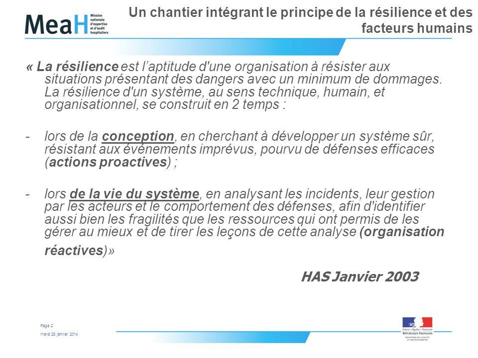 Un chantier intégrant le principe de la résilience et des facteurs humains