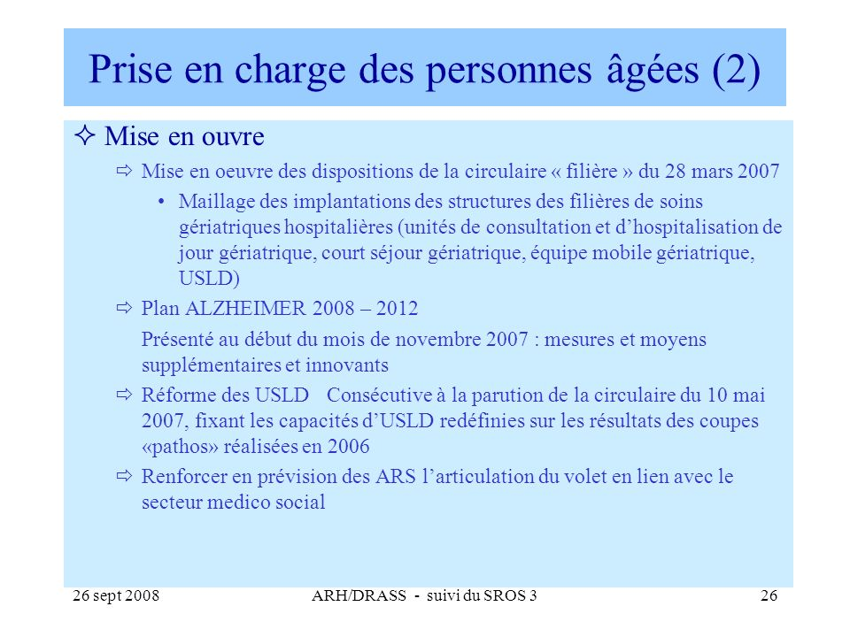 Prise en charge des personnes âgées (2)