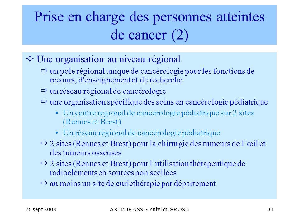 Prise en charge des personnes atteintes de cancer (2)