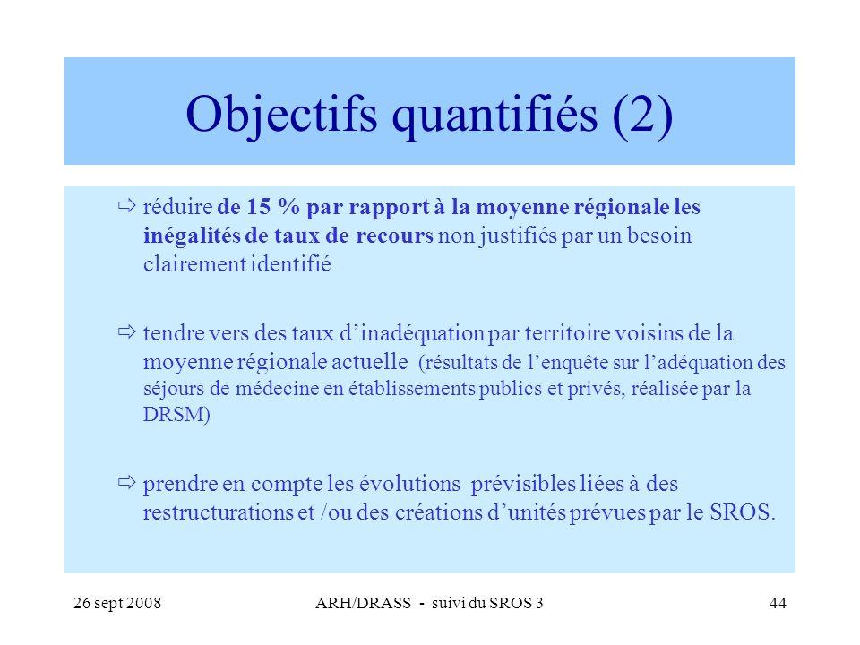 Objectifs quantifiés (2)