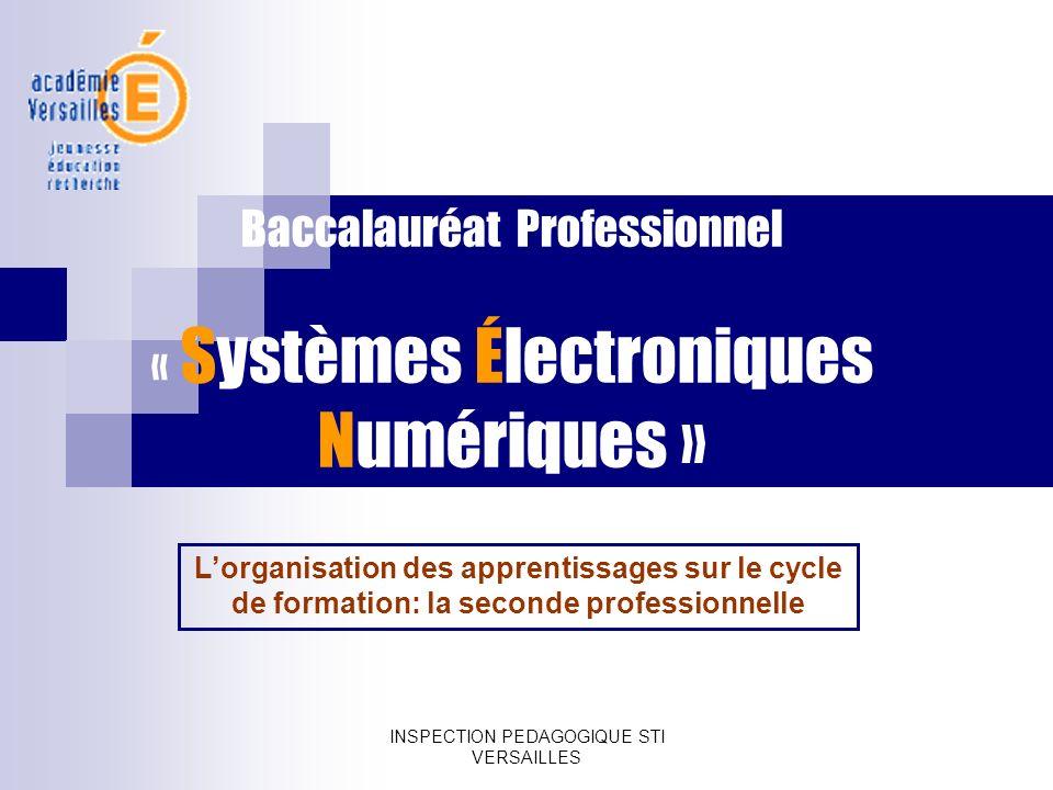 Baccalauréat Professionnel « Systèmes Électroniques Numériques »
