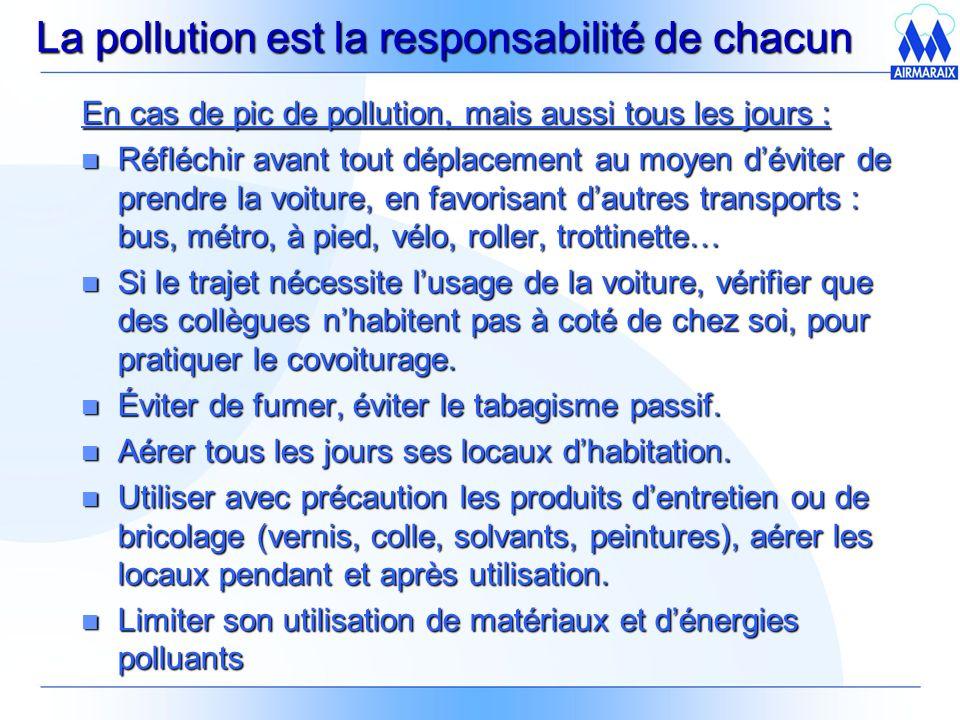 La pollution est la responsabilité de chacun