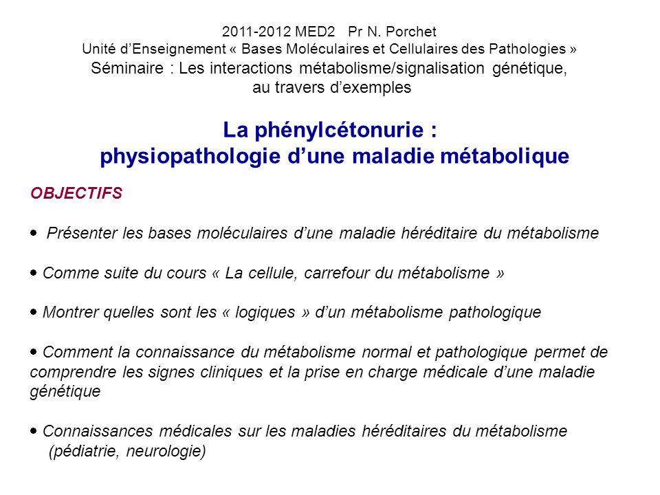 physiopathologie d'une maladie métabolique