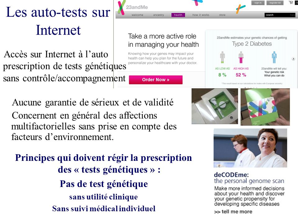 Les auto-tests sur Internet