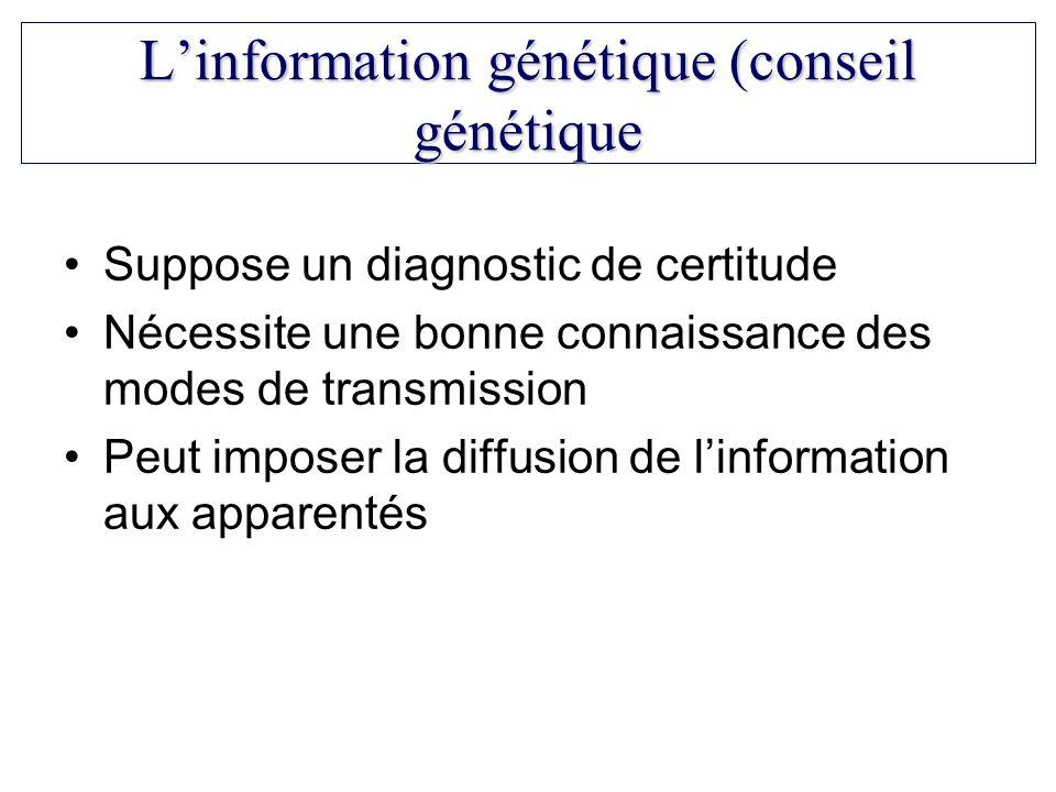 L'information génétique (conseil génétique