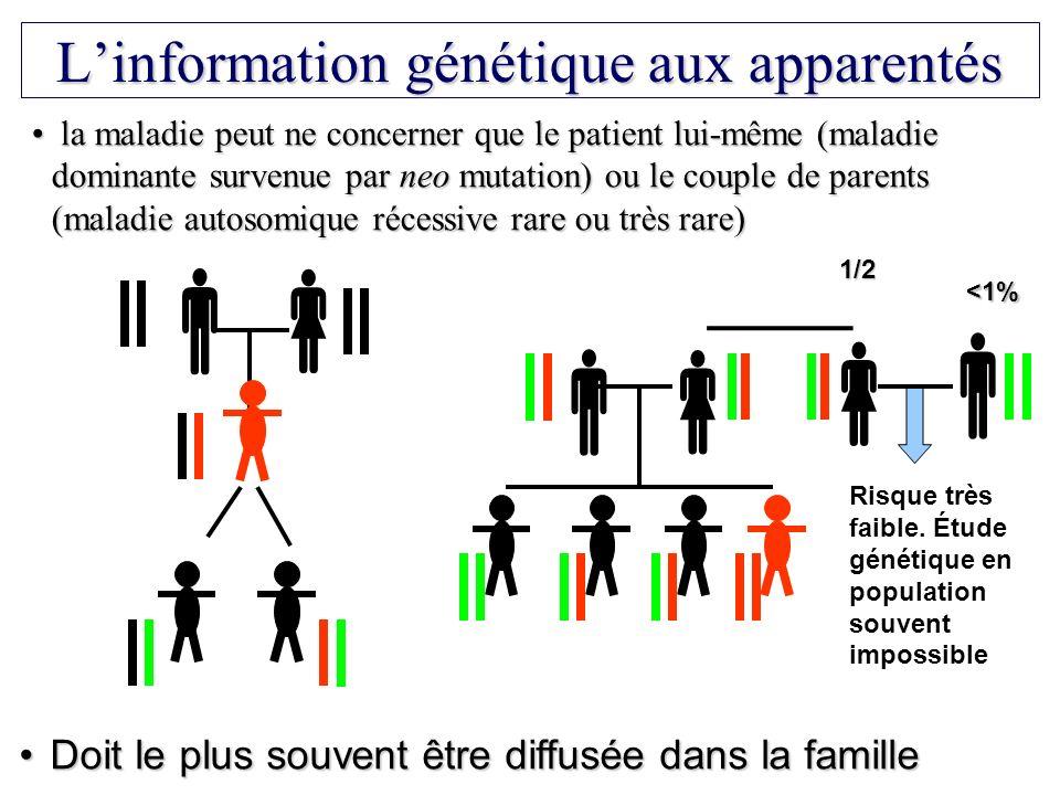 L'information génétique aux apparentés
