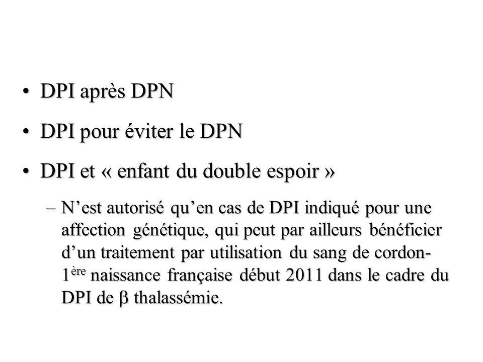 DPI et « enfant du double espoir »