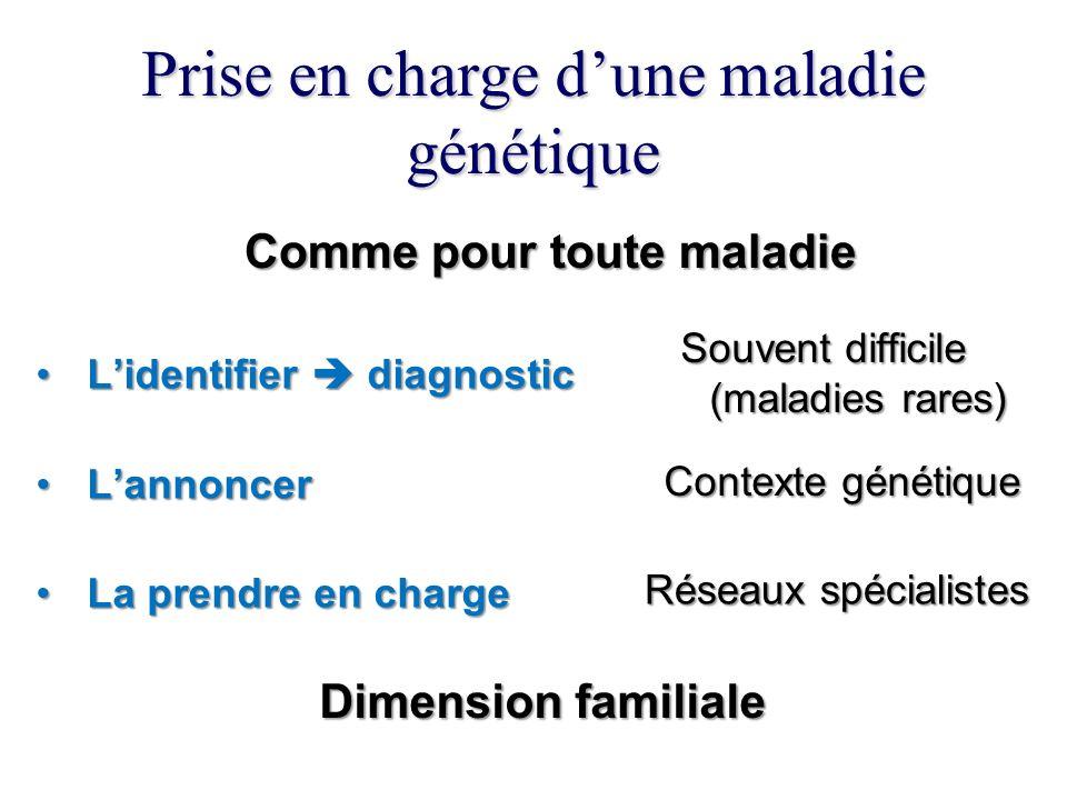 Prise en charge d'une maladie génétique