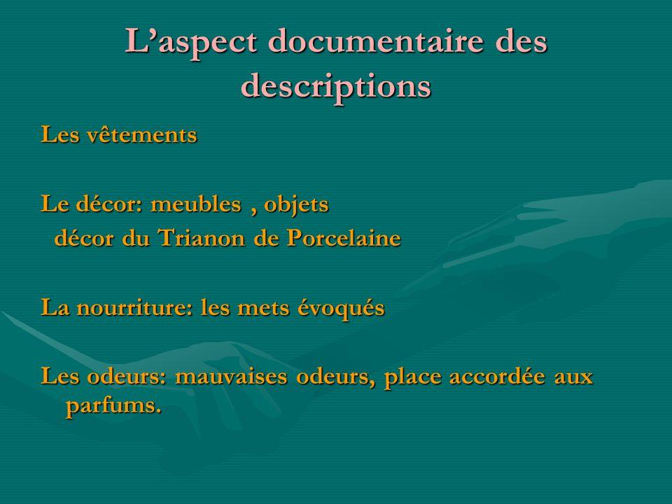 L'aspect documentaire des descriptions