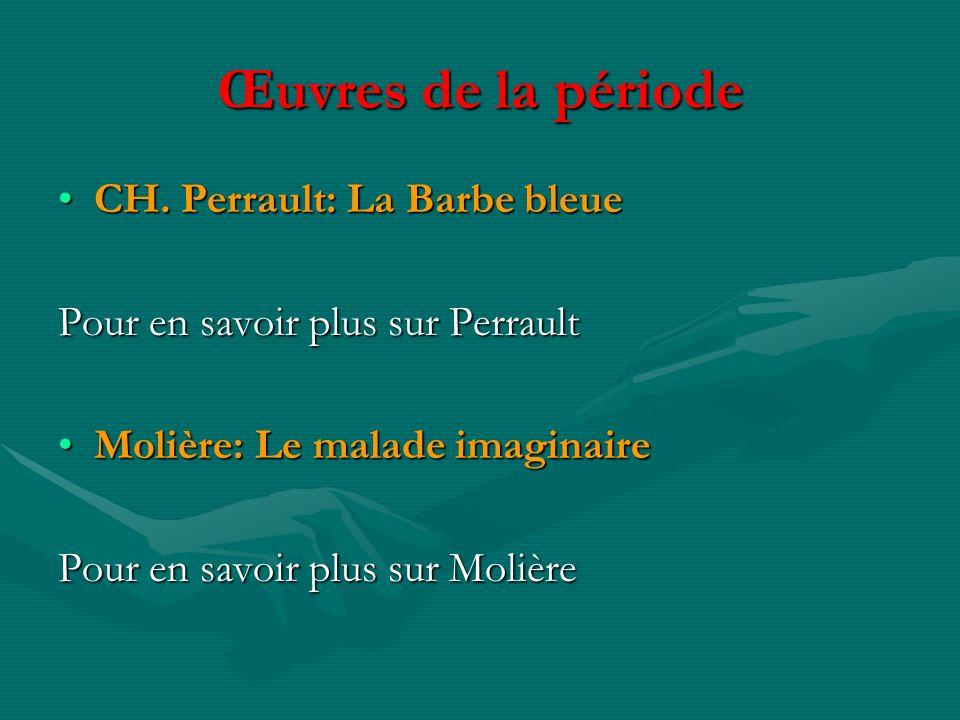 Œuvres de la période CH. Perrault: La Barbe bleue