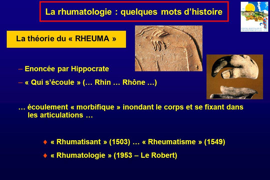 La rhumatologie : quelques mots d'histoire