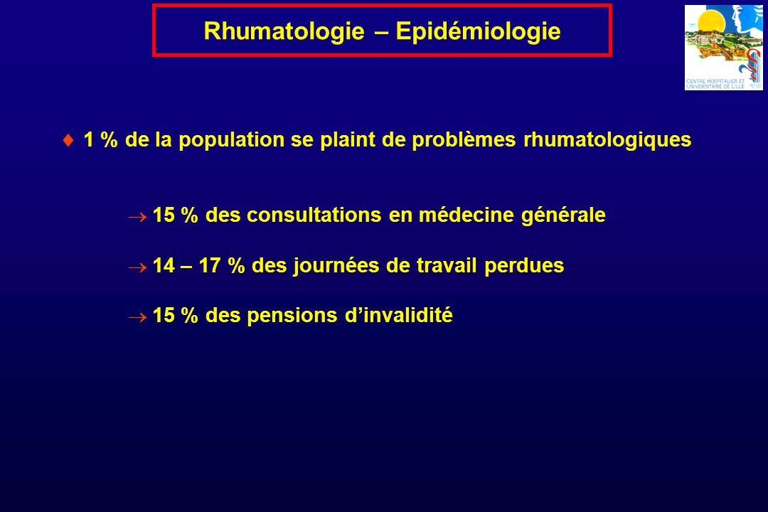 Rhumatologie – Epidémiologie