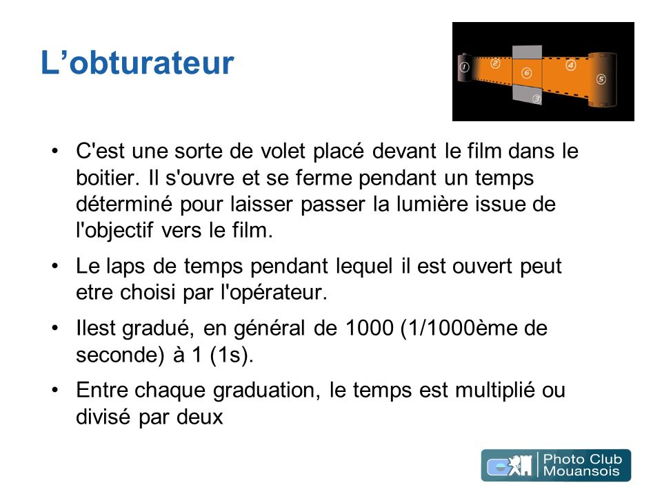 L'obturateur