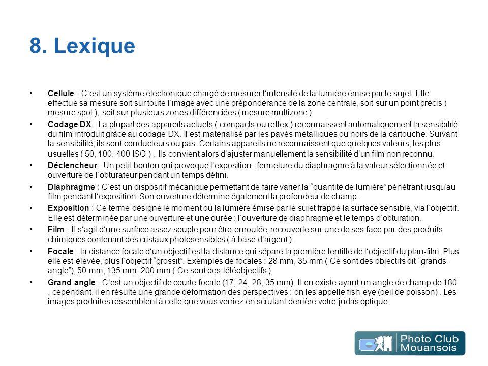 8. Lexique