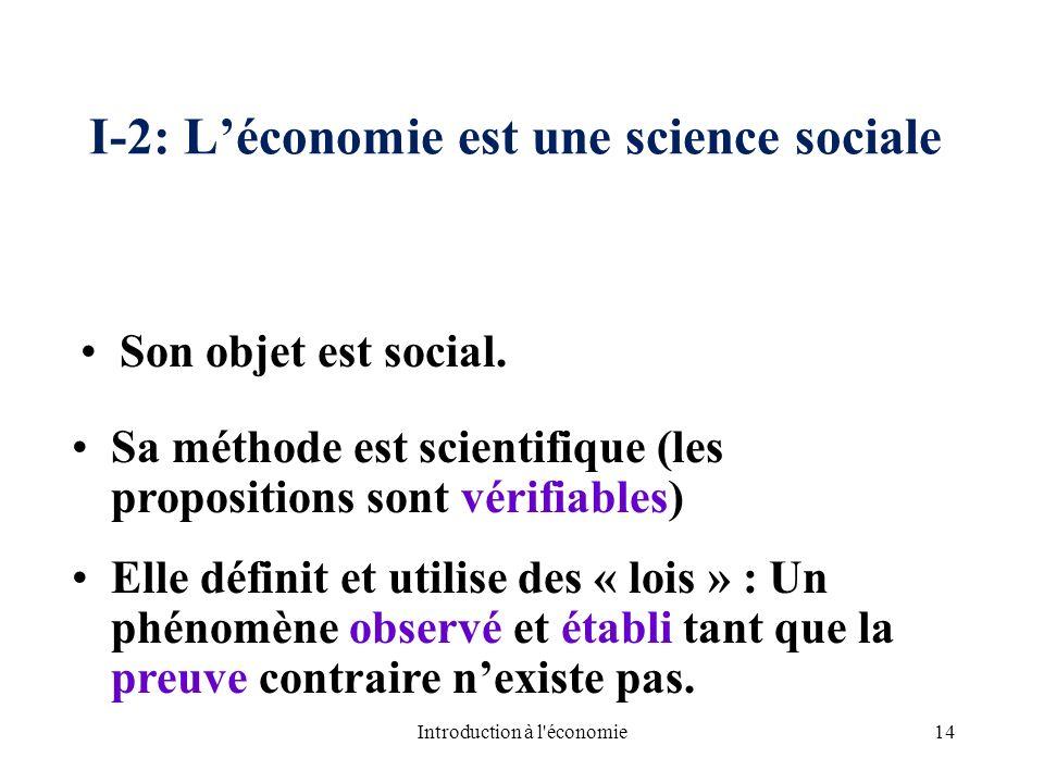 I-2: L'économie est une science sociale