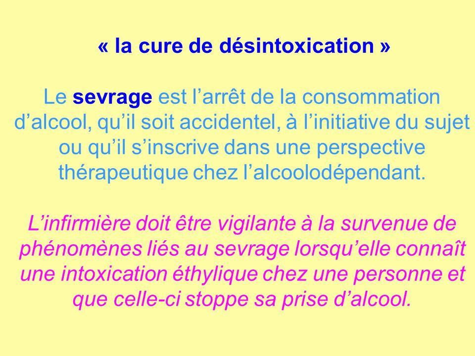 « la cure de désintoxication »