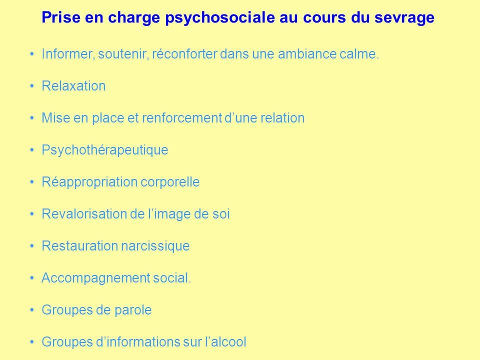Prise en charge psychosociale au cours du sevrage