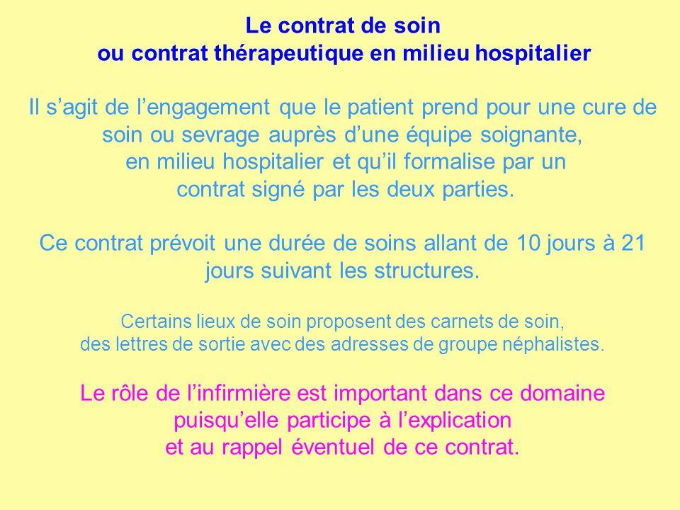 ou contrat thérapeutique en milieu hospitalier