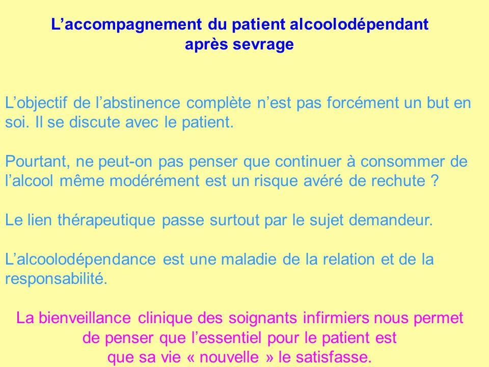 L'accompagnement du patient alcoolodépendant