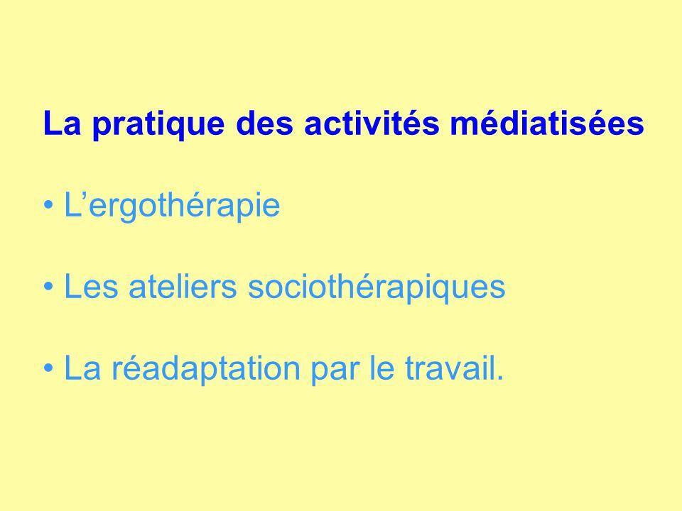 La pratique des activités médiatisées