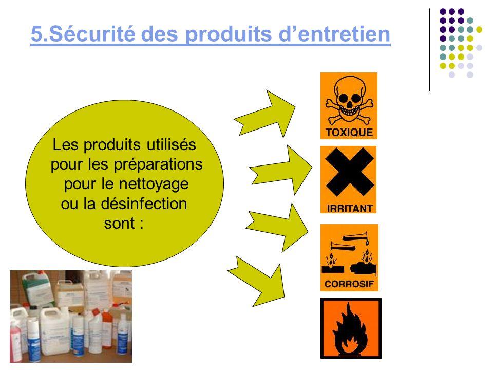 5.Sécurité des produits d'entretien