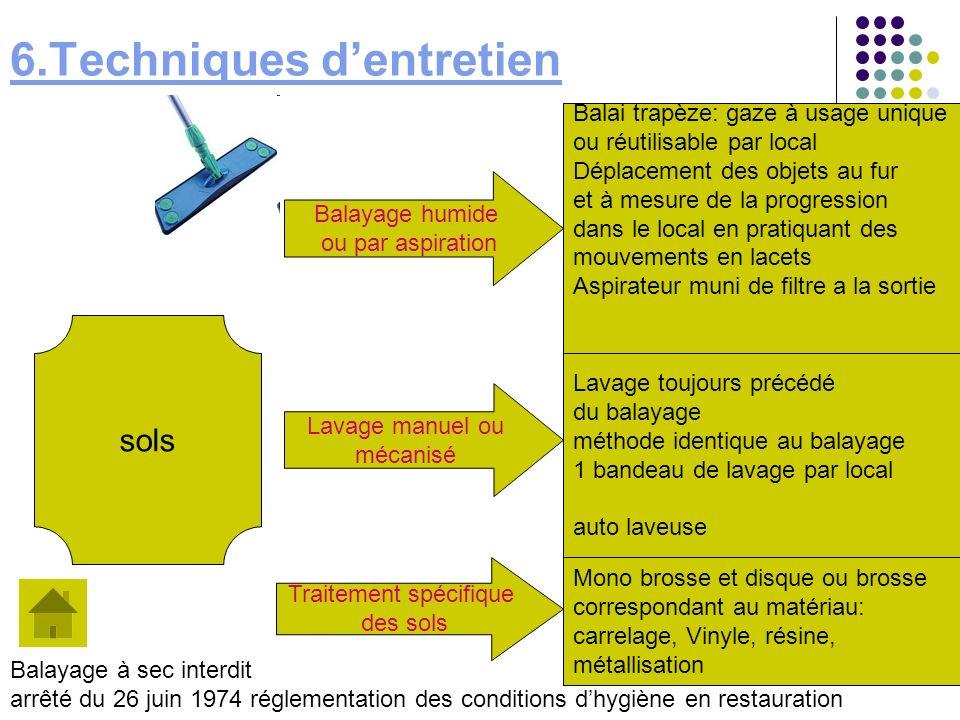 6.Techniques d'entretien