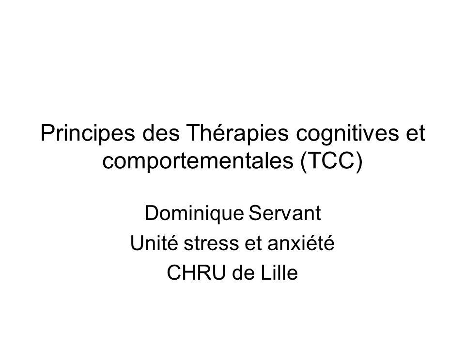 Principes des Thérapies cognitives et comportementales (TCC)