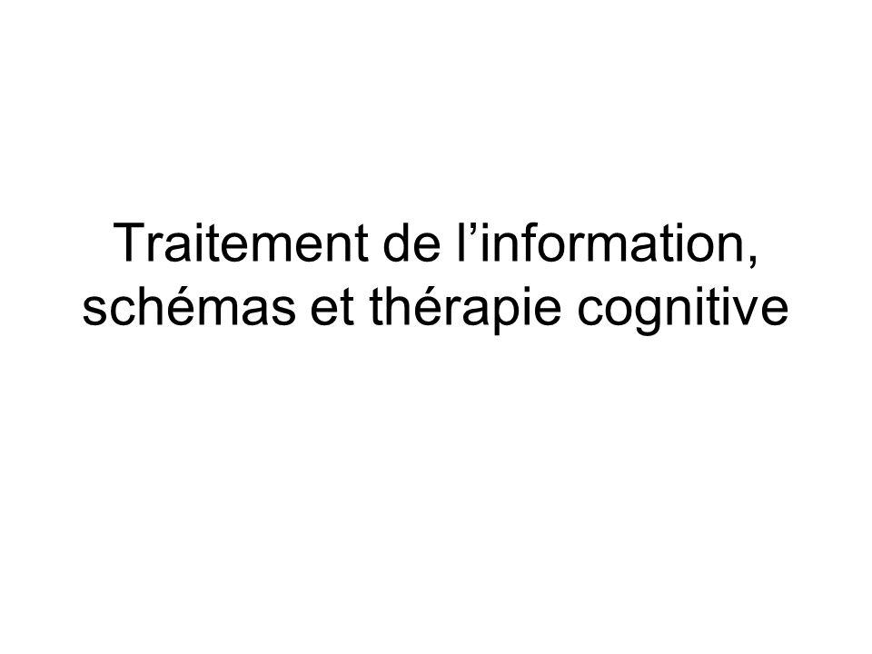 Traitement de l'information, schémas et thérapie cognitive
