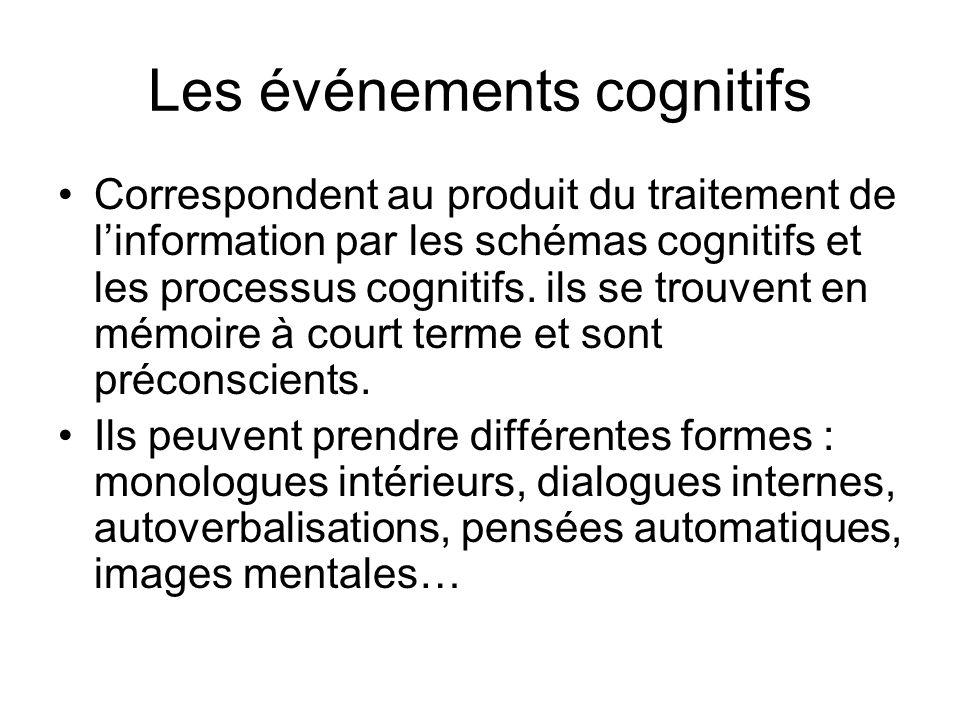 Les événements cognitifs