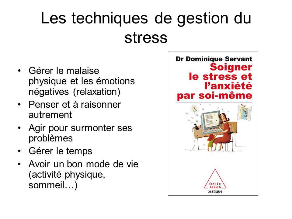 Les techniques de gestion du stress