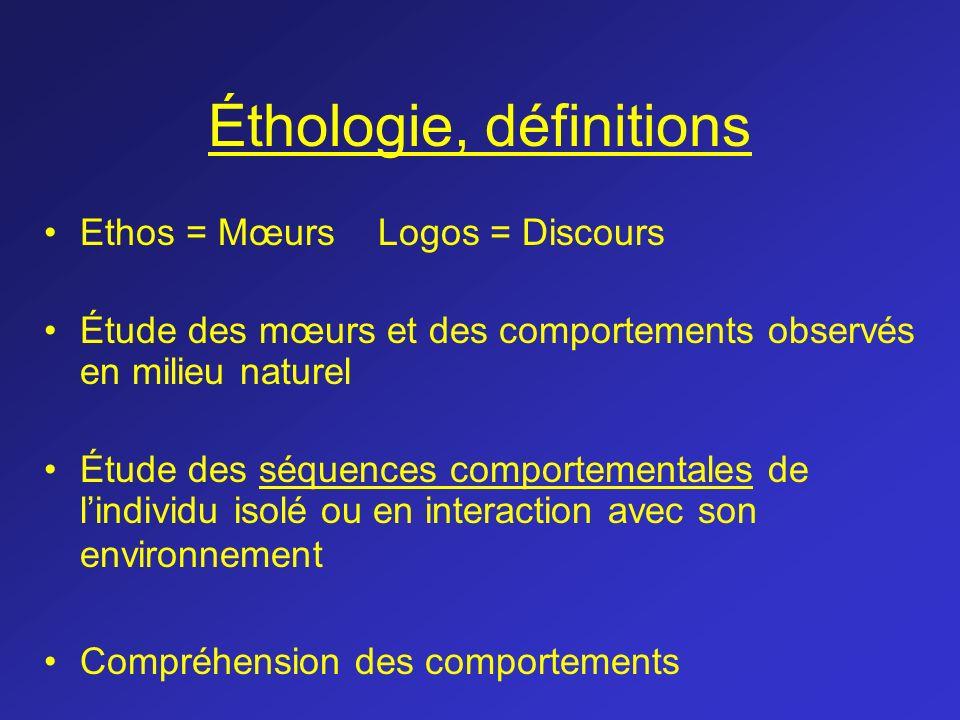 Éthologie, définitions