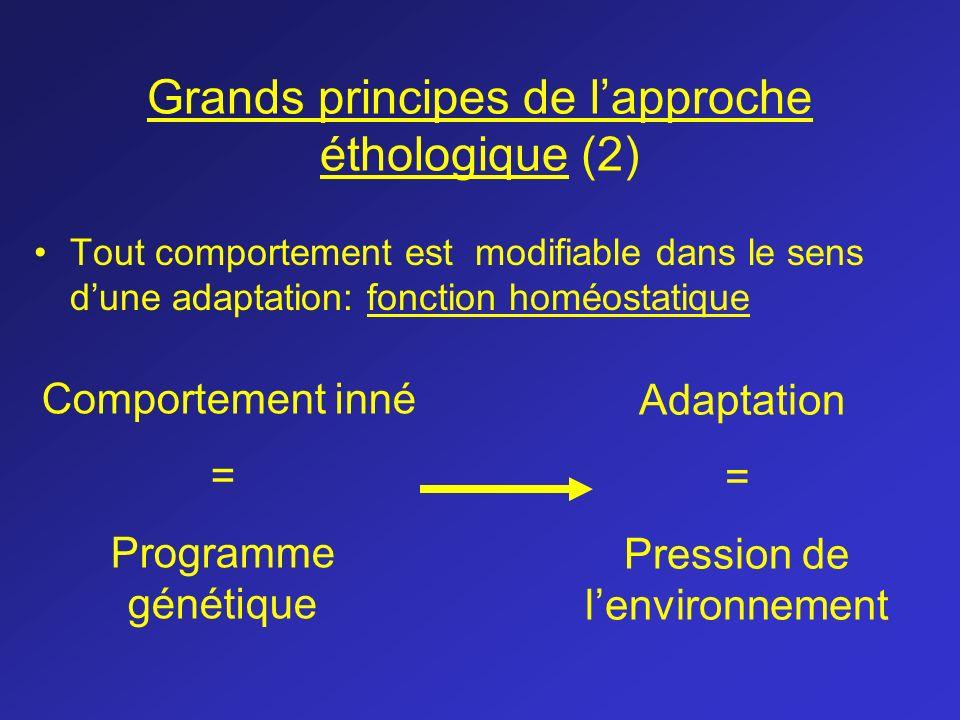 Grands principes de l'approche éthologique (2)