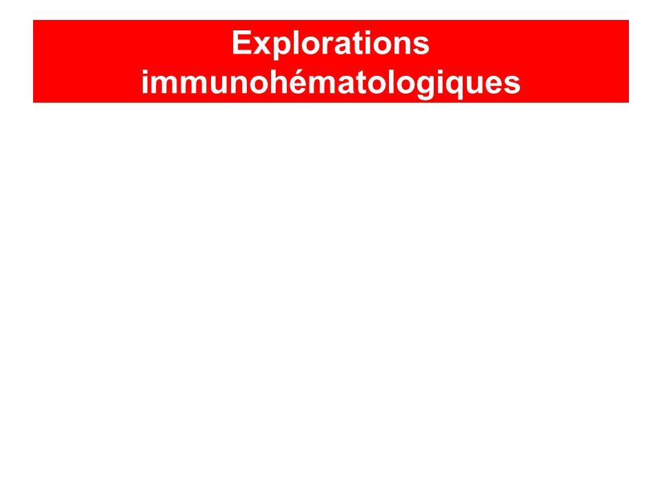 Explorations immunohématologiques