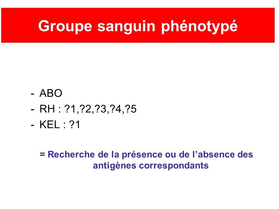 Groupe sanguin phénotypé