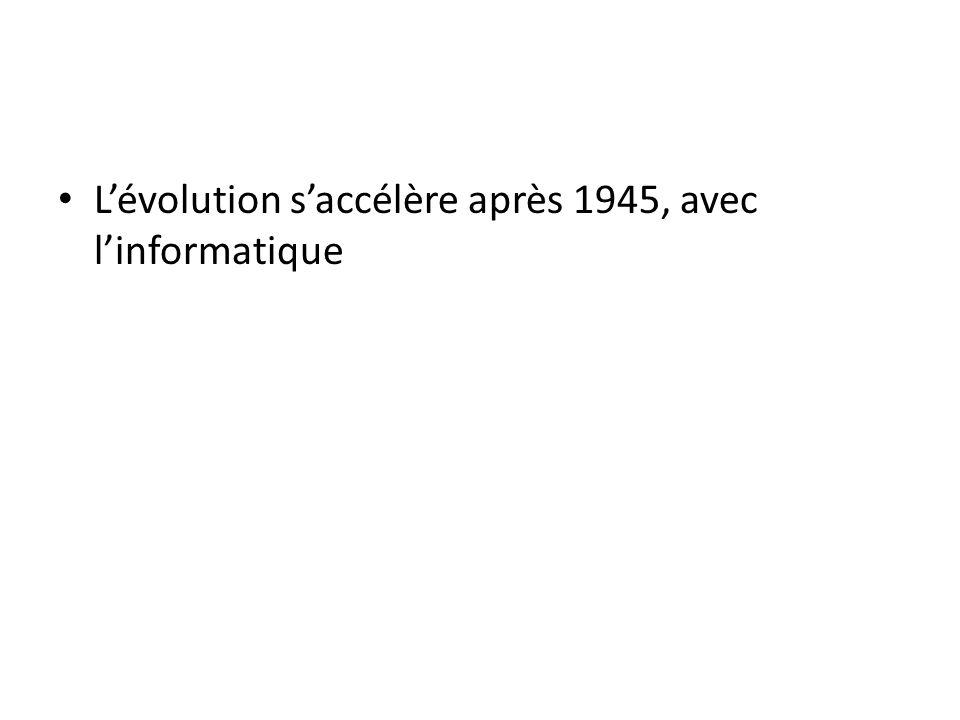 L'évolution s'accélère après 1945, avec l'informatique