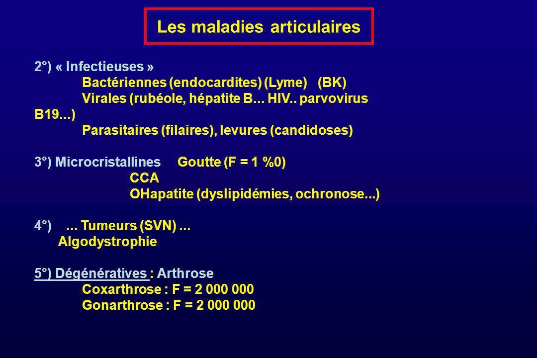 Les maladies articulaires