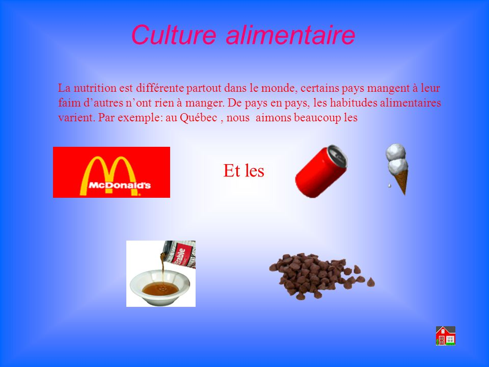 Culture alimentaire Et les
