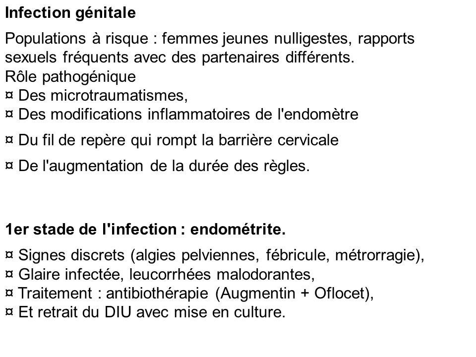 Infection génitale