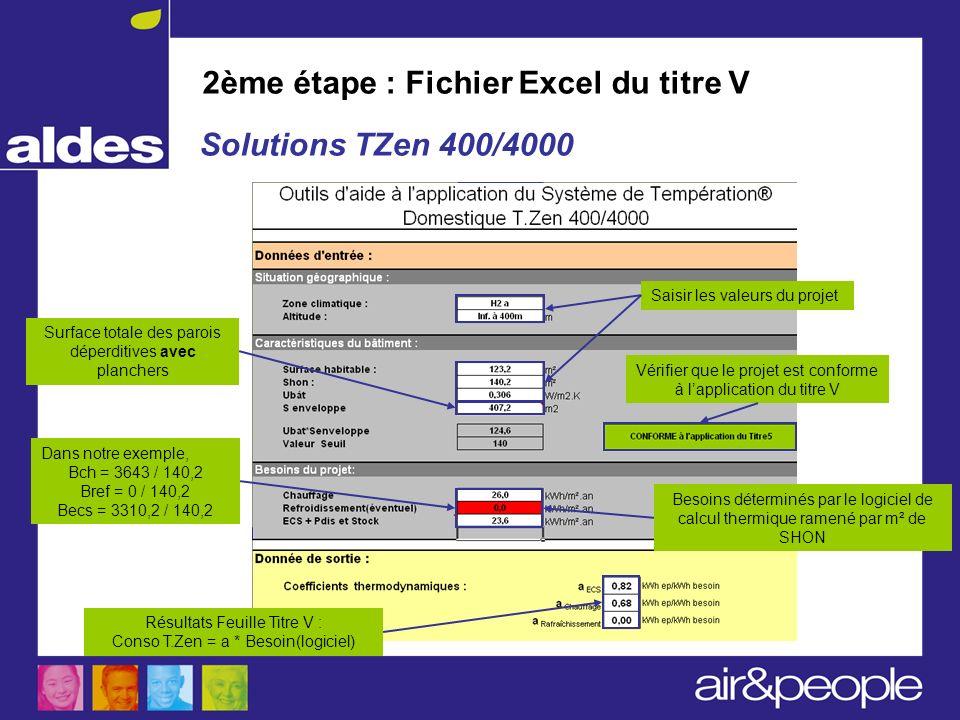 2ème étape : Fichier Excel du titre V