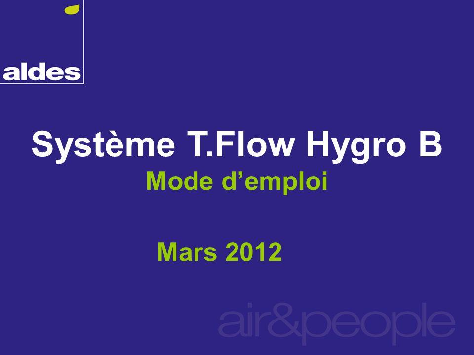 Système T.Flow Hygro B Mode d'emploi Mars 2012
