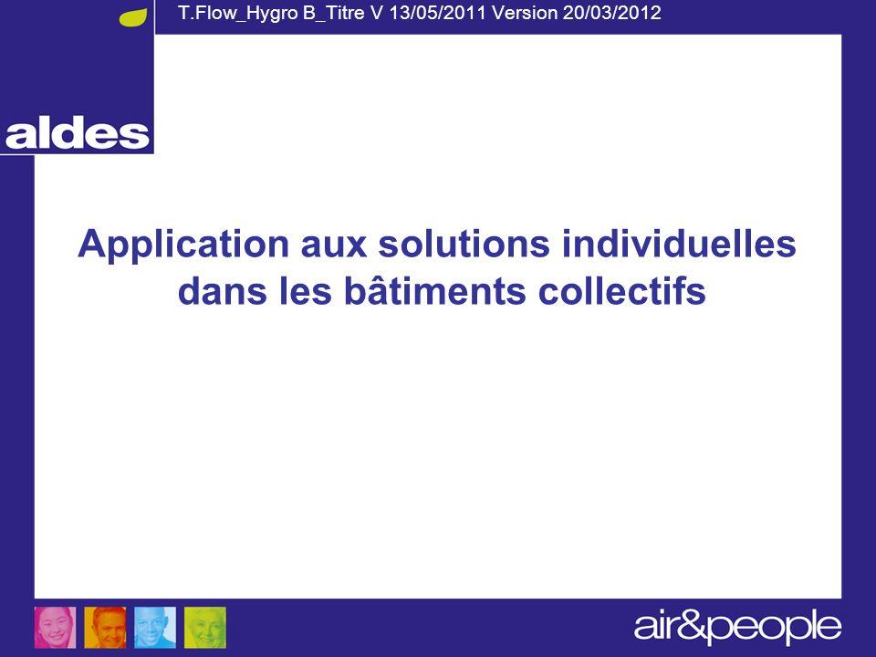 Application aux solutions individuelles dans les bâtiments collectifs