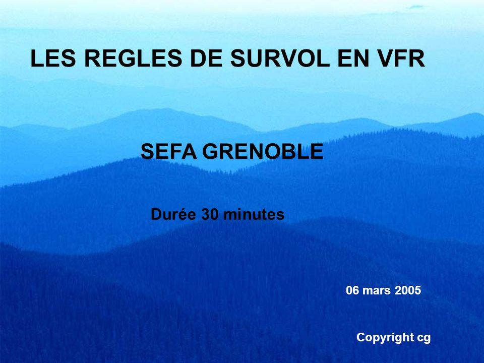 LES REGLES DE SURVOL EN VFR