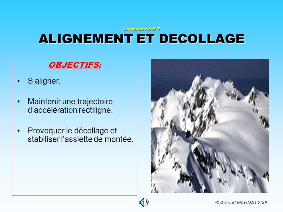 Leçon en vol N°5 ALIGNEMENT ET DECOLLAGE
